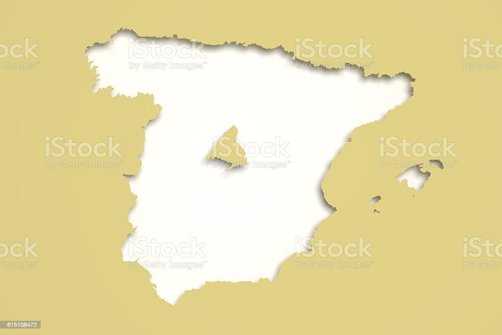 Madrid Capital De España Mapa.Mapa De Espana Y De La Capital Madrid Foto De Stock Y Mas
