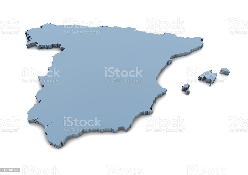 Map of Spain royalty-free stock photo