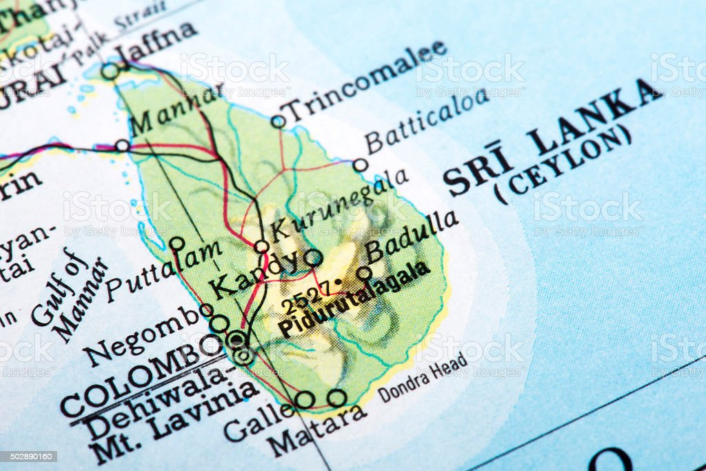 Map of sri lanka stock photo more pictures of 2015 istock map of sri lanka ceylon royalty free stock photo gumiabroncs Images