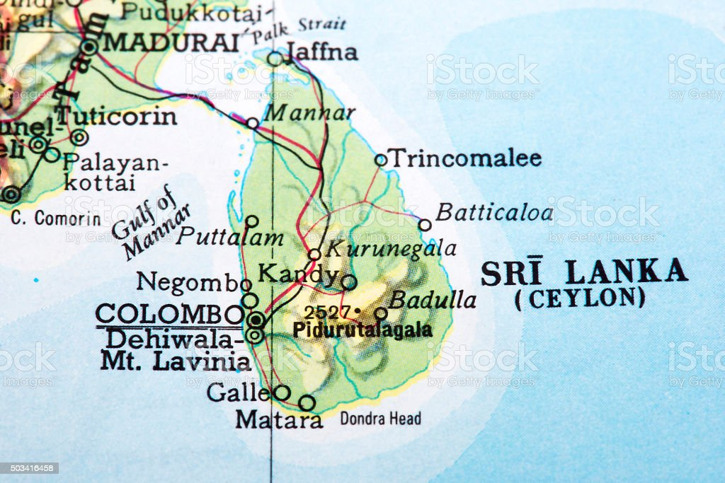 Map of sri lanka stock photo more pictures of asia istock map of sri lanka ceylon royalty free stock photo gumiabroncs Image collections