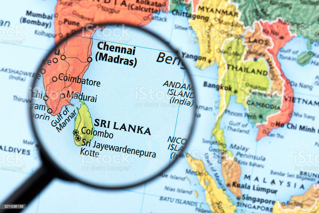 Map Of Sri Lanka Stock Photo Download Image Now Istock
