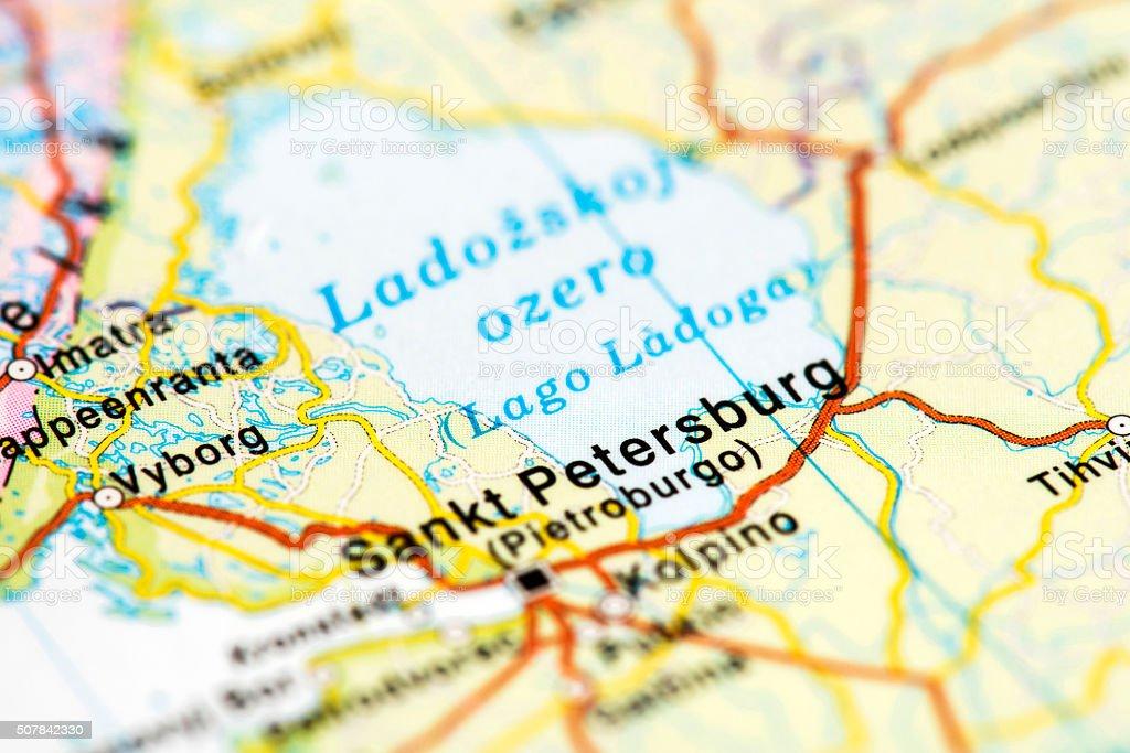 Map Of St Petersburg Russia stock photo iStock