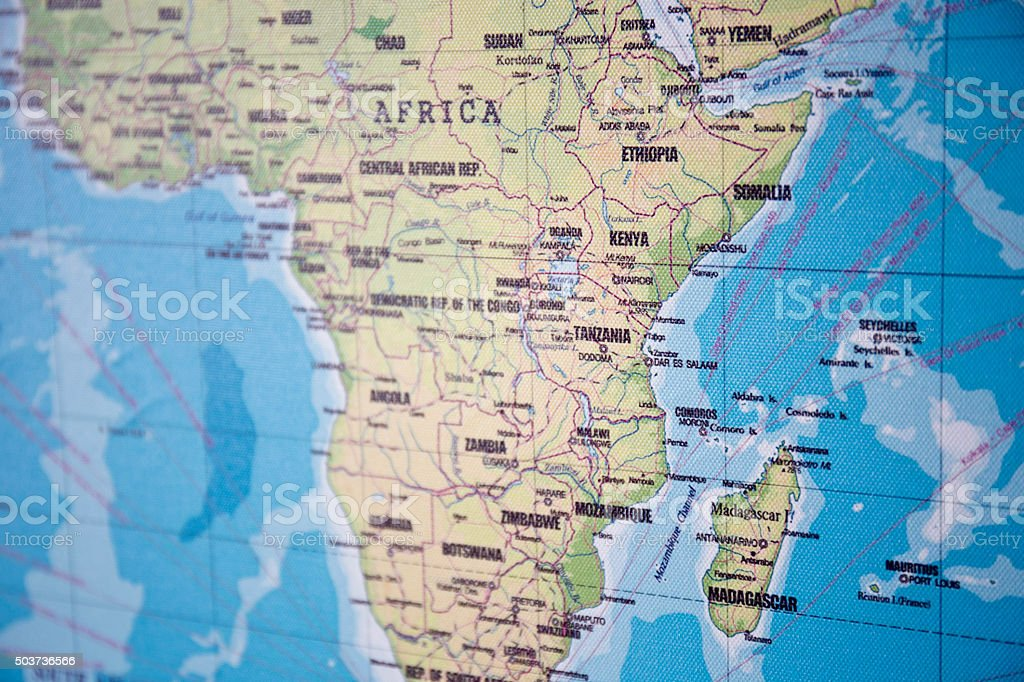 Cartina Geografica Italia Africa.Mappa Di Africa Subsahariana Fotografie Stock E Altre Immagini Di Carta Geografica Istock