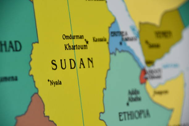 map of sudan - sudan stock photos and pictures
