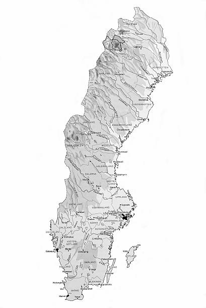 Karte von Schweden – Foto
