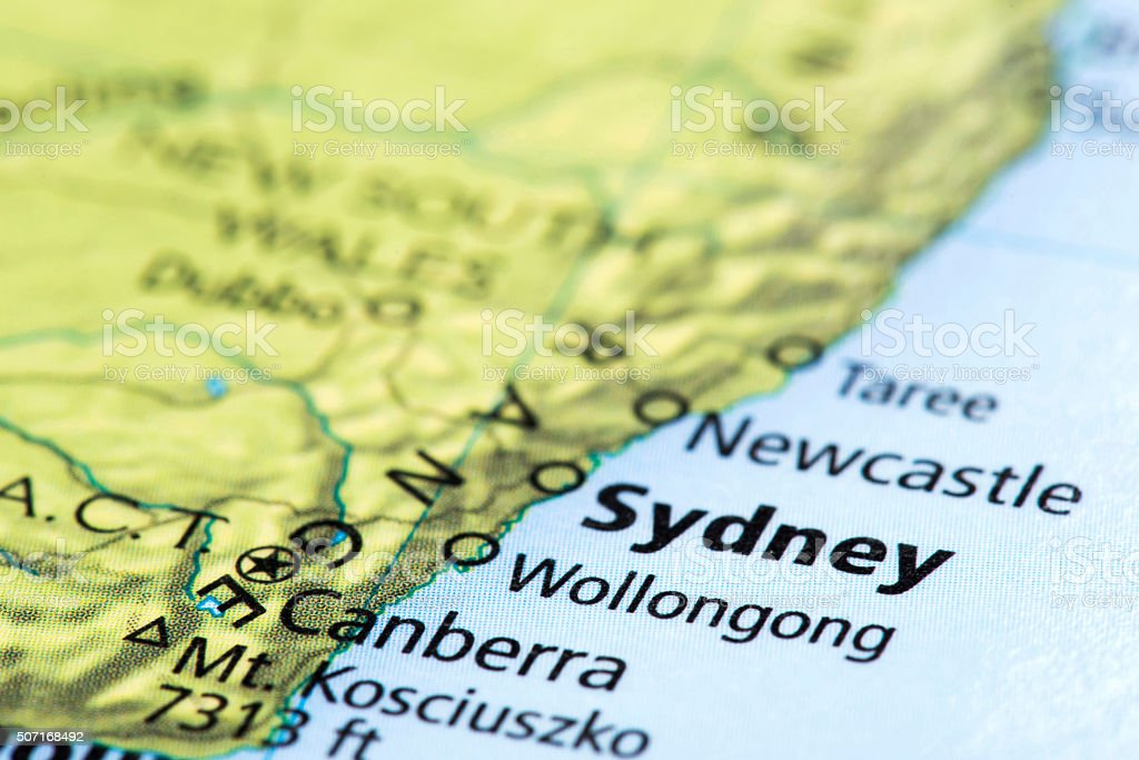 Sydney Australia World Map.Map Of Sydney Australia Stock Photo Download Image Now Istock
