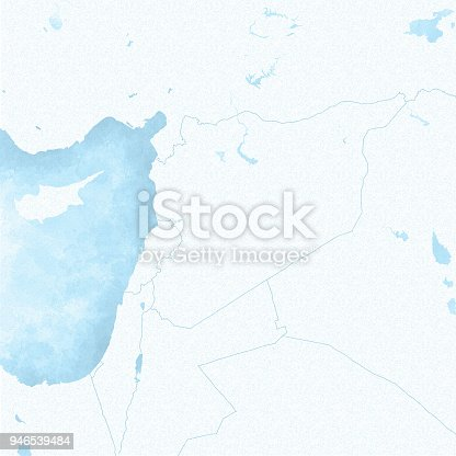 map of syria and borders political map middle east arabian peninsula mediterranean sea hand drawn map stock photo more pictures of arabian peninsula