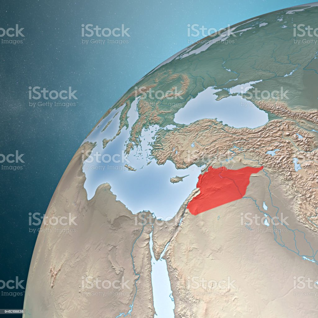 Map Of The Mediterranean Sea Syria And Europe Africa And Middle East