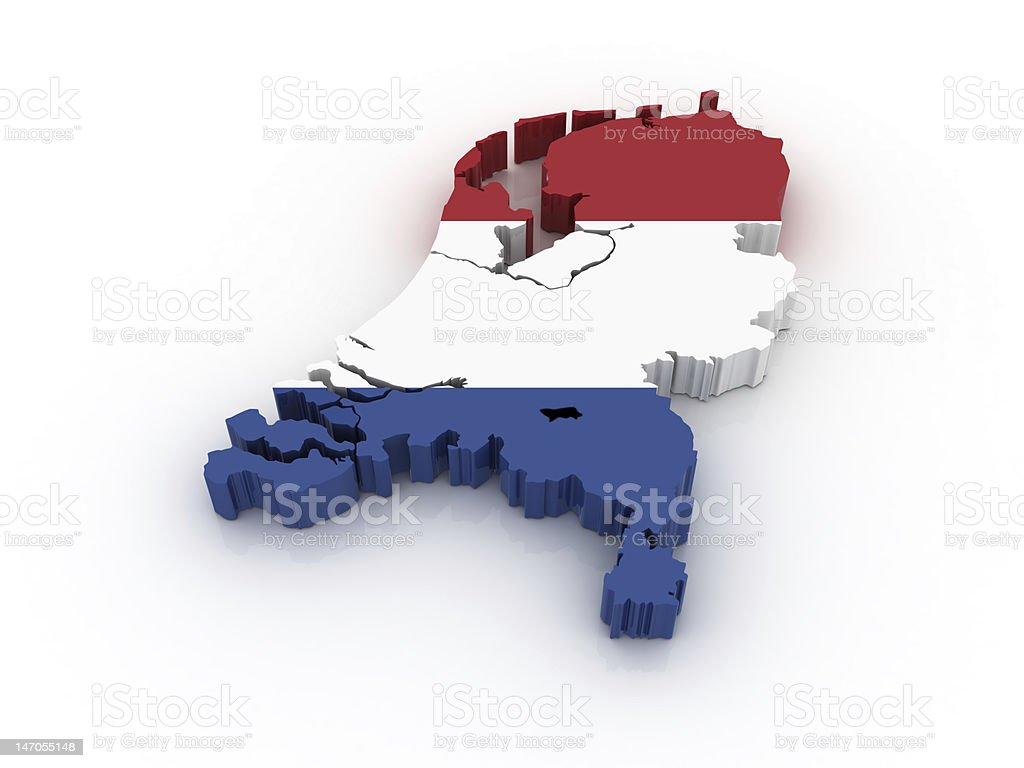 Map of the Netherlands stock photo