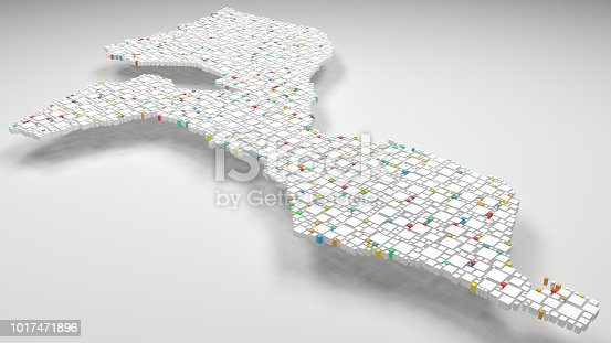 istock 3D Map of the Republic of Mozambique - Africa 1017471896