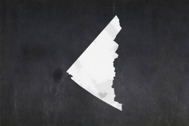 Map of the territory of Yukon drawn on a blackboard stock photo