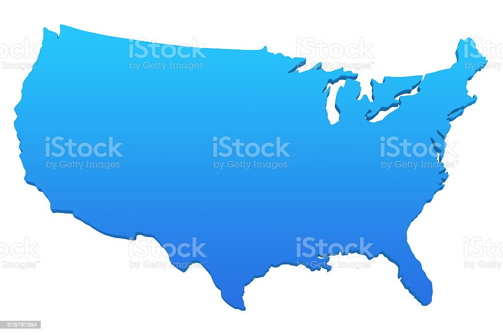 Map of the United States of America - Stock ima stock photo