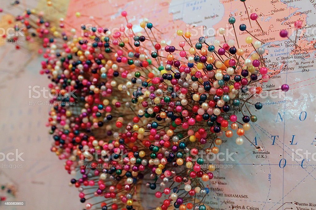 Map of the United States stock photo
