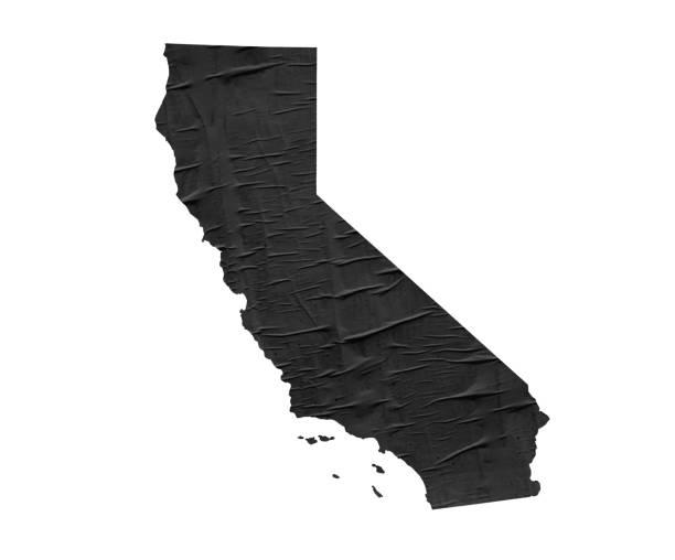 Karte der US-Bundesstaat Kalifornien – Foto