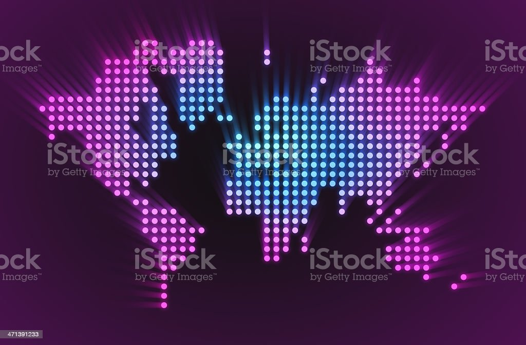 Map of the world - LED style royalty-free stock photo