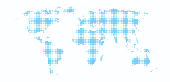 Square regular puzzle map of the world
