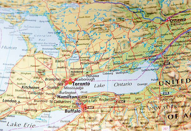 Ontario Canada Map Pictures Images And Stock Photos IStock - Ontario canada map