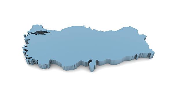 mappa della turchia - luna gibbosa foto e immagini stock