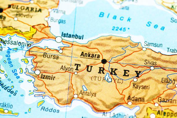 Map of Turkey Rough map of Turkey. anatolia stock pictures, royalty-free photos & images