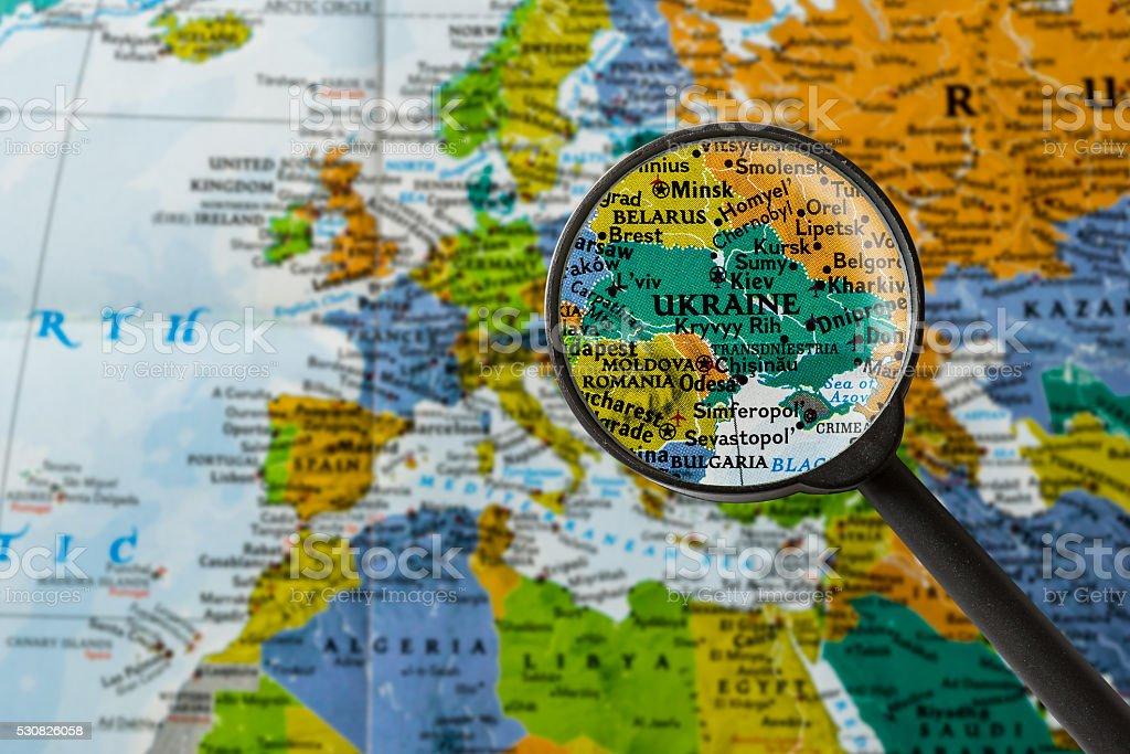 Fotografía de Mapa De Ucrania y más banco de imágenes de Aumento a ...