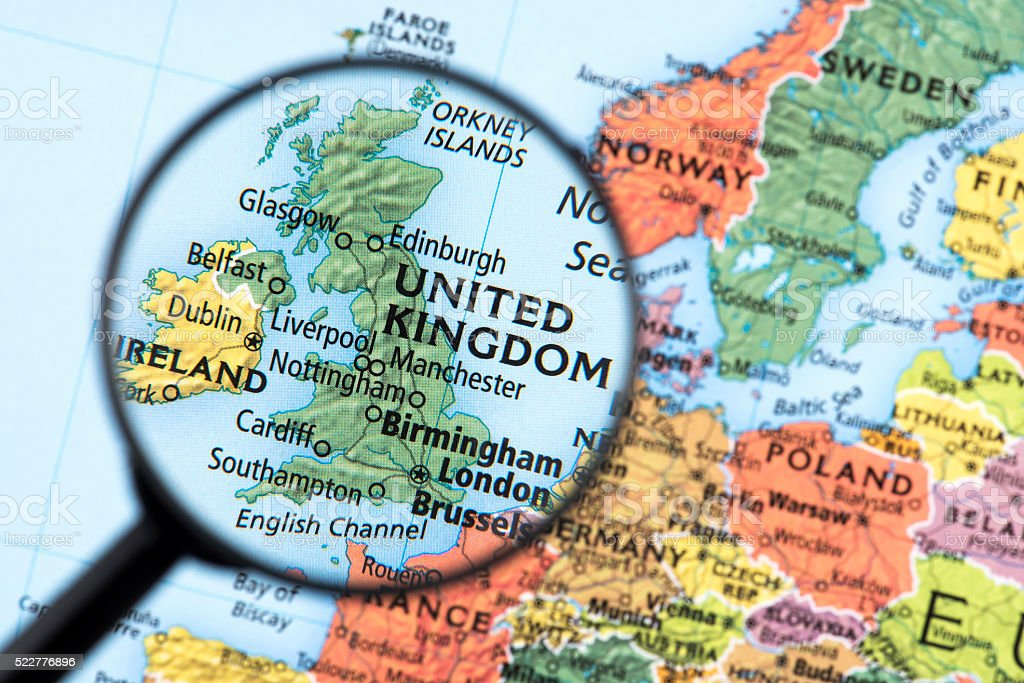 Map Of United Kingdom Stock Photo More Pictures of Birmingham
