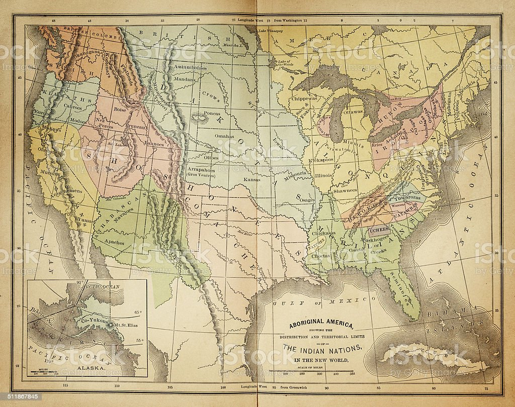 Map of United States 1876 stock photo
