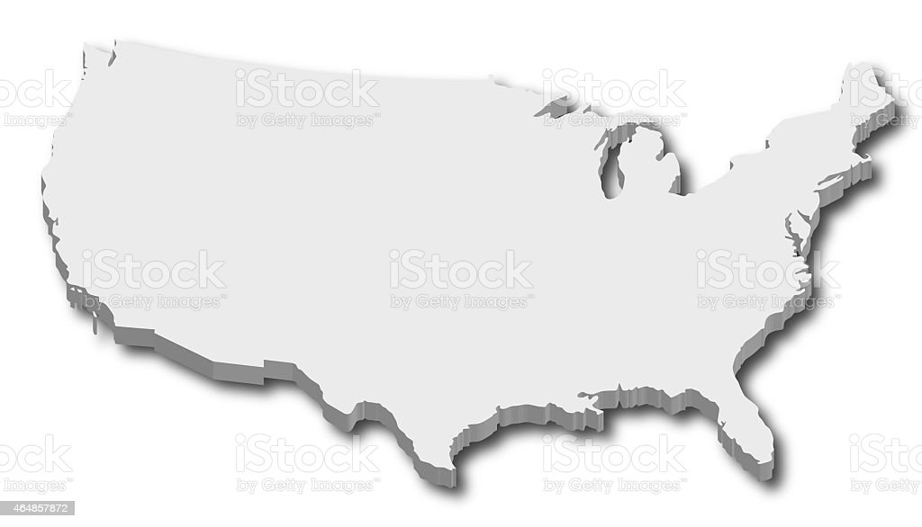 3d Map Of United States Of America Stock Photo More Pictures of