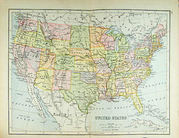 Map of United States​​​ foto