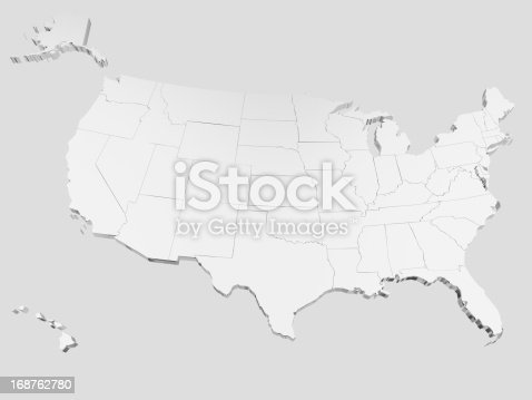 istock Map of USA 168762780