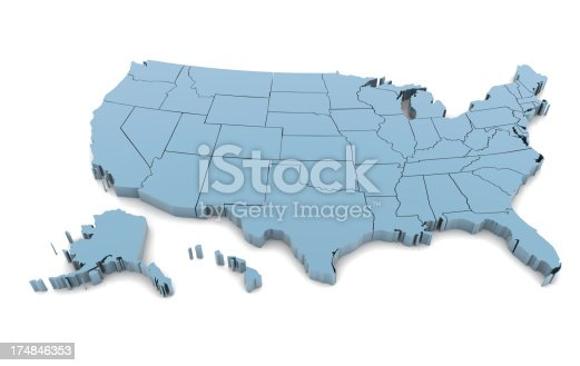 831661634istockphoto Map of USA 174846353