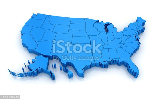 861272646istockphoto Map of USA 474144756