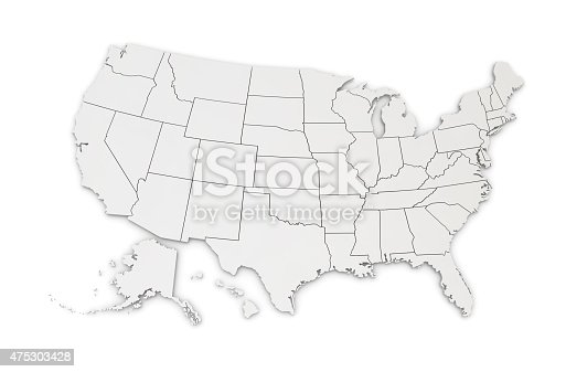 istock Map of USA 475303428