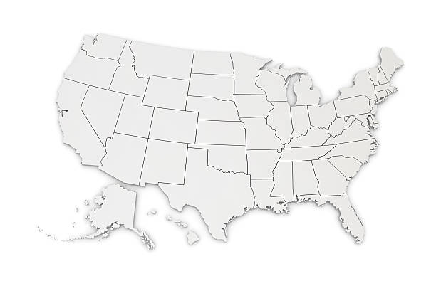 Map of USA​​​ foto