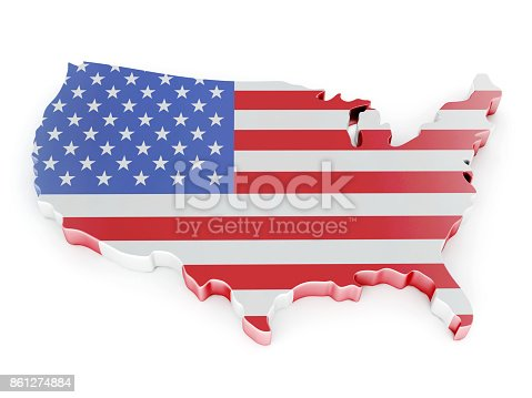 861272646istockphoto 3D Map of USA 861274884