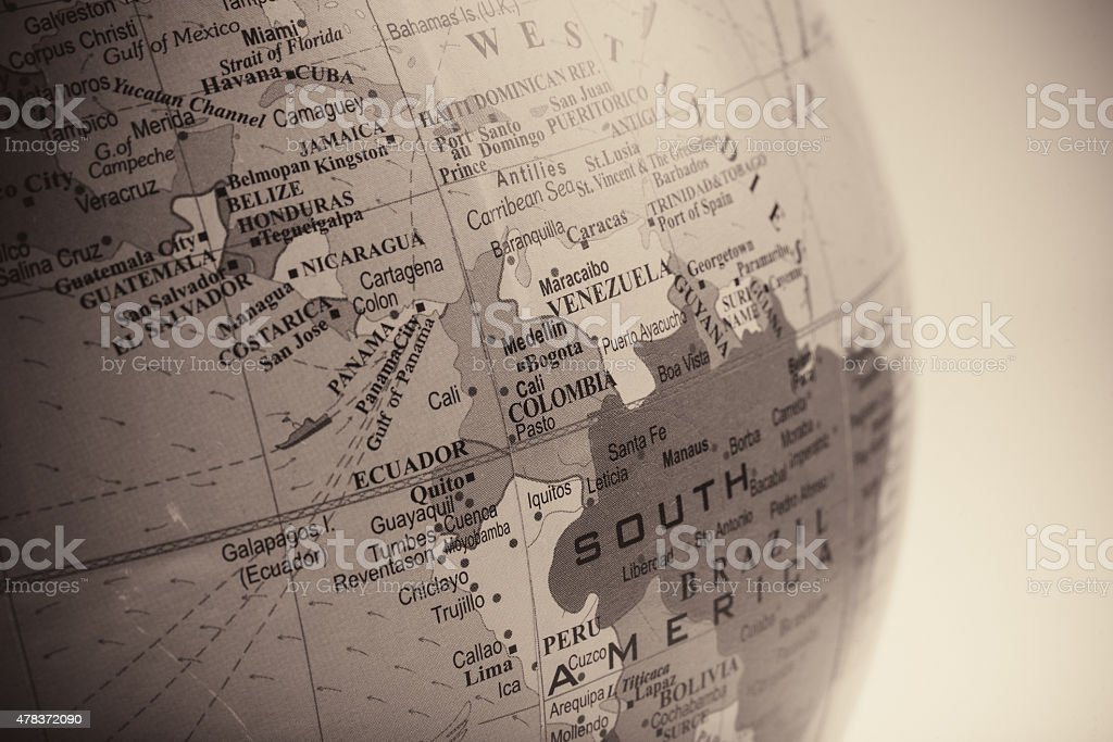 Map of Venezuela with the Surrounding Countries stock photo