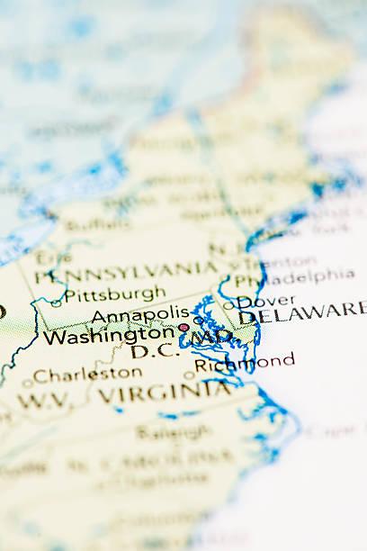 karte von washington, dc - karten de stock-fotos und bilder