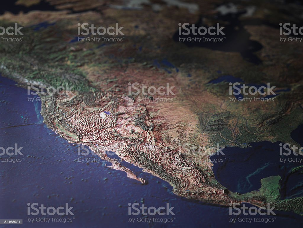 Map Of West Coast Usa Stockfoto und mehr Bilder von ...