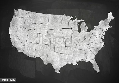 520945644 istock photo USA map on blackboard (Click for more) 936315282