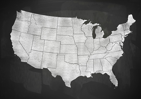 istock USA map on blackboard (Click for more) 936315282