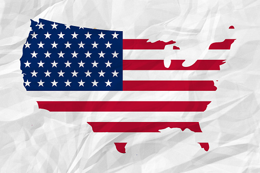 182764873 istock photo USA map on crumpled paper 519554936