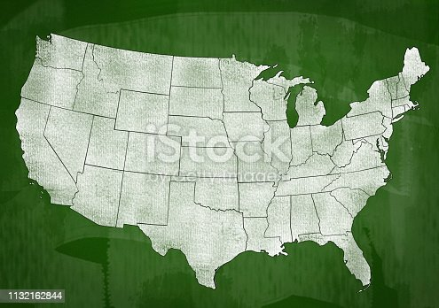 520945644 istock photo USA map on Green board (Click for more) 1132162844