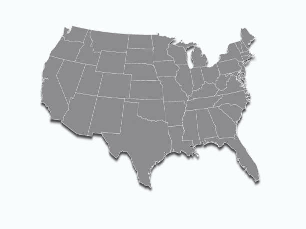 USA map  on white background USA map on white background oregon us state stock pictures, royalty-free photos & images