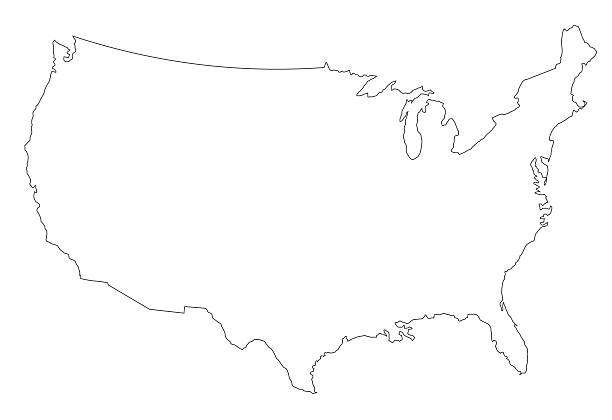 Us Map Outline Pictures Images And Stock Photos IStock - Usa map outline