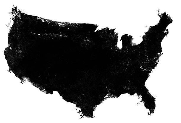 fotocopia grunge de estados unidos mapa - us map fotografías e imágenes de stock
