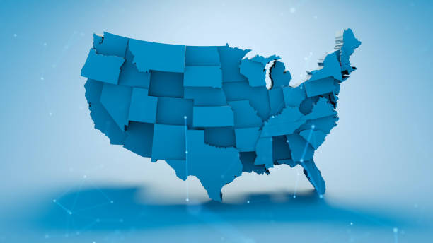 US Map US Map american culture stock pictures, royalty-free photos & images