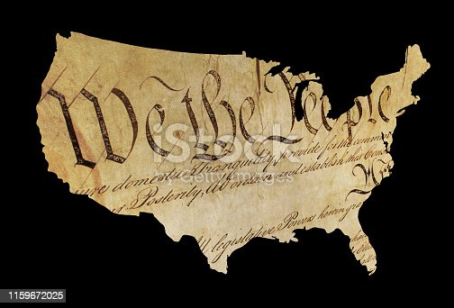 USA map - American constitution