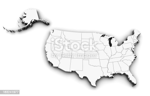 520945644 istock photo 3D USA Map 183241977
