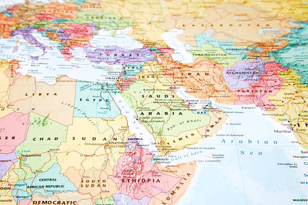map. - north africa stock photos and pictures