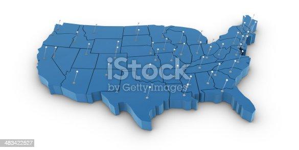 istock USA Map 483422527