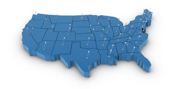 483422527 istock photo USA Map 483422527